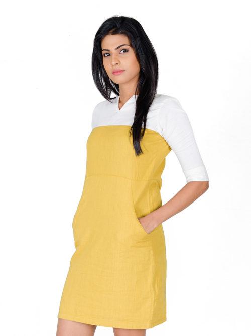 Yellow Linen Dress