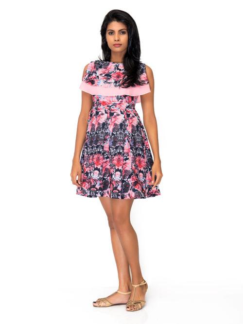 Pleated Frill Dress