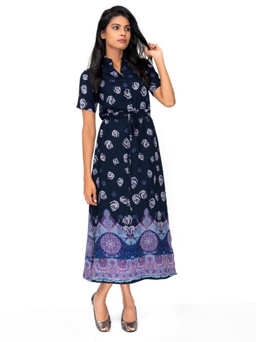 Long Border Dress