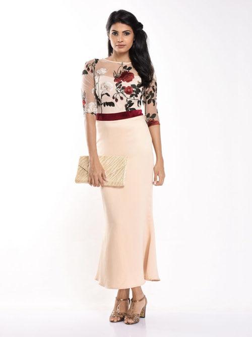 Rose Beige Dress