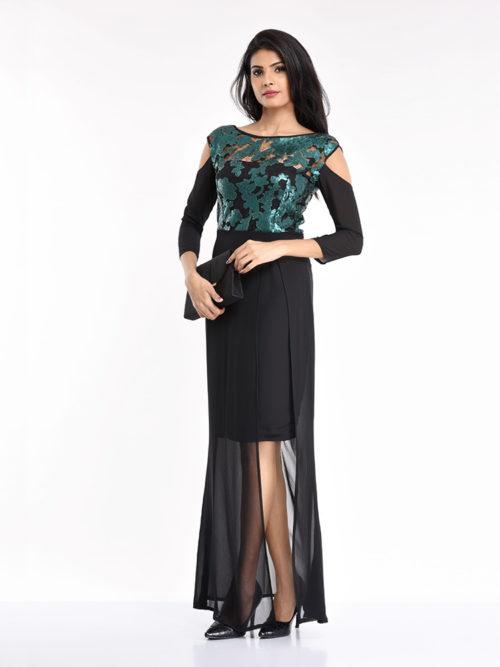 Green Seq Dress