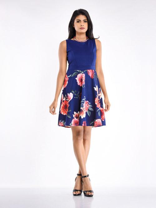 Floral Skater Dress - Women / Dresses