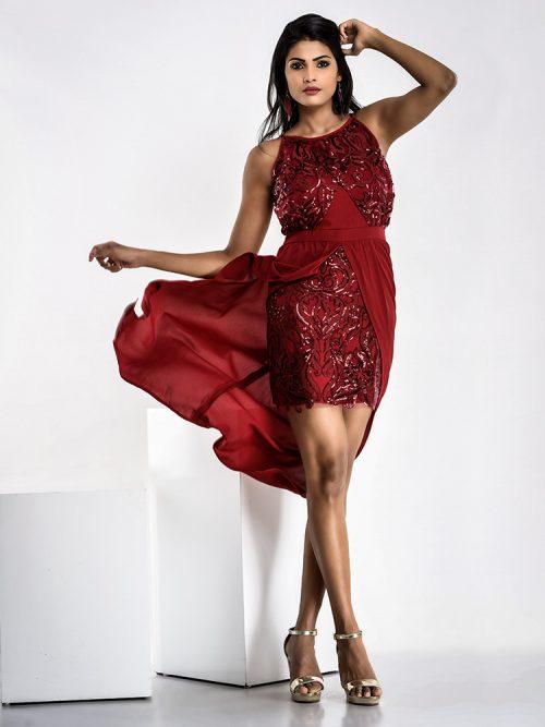 Red Seq Dress