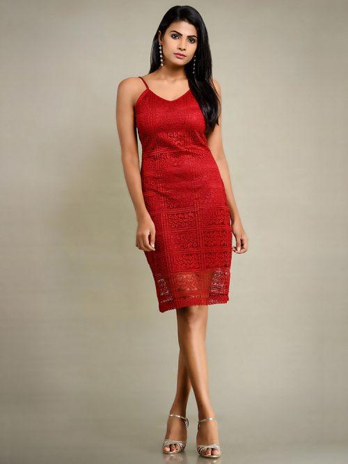 Red Strap Dress
